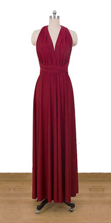 Floor length cherry red infinity dress multiway dress convertible long dress bridesmaid,dress wedding dress formal