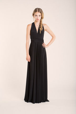 Full Length Bridesmaid Black Infinity Dress Convertible Wrap Dress Multiway Long Dresses
