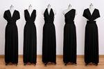 convertible wrap dress, infinity dress, long dress, black infinity dress, prom dress, long elegant dress, black gown