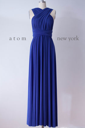 Royal Blue Infinity Dress, Convertible Bridesmaid Dress, Evening Dress,Multiway Dress, Wrap Dress, formal Dress