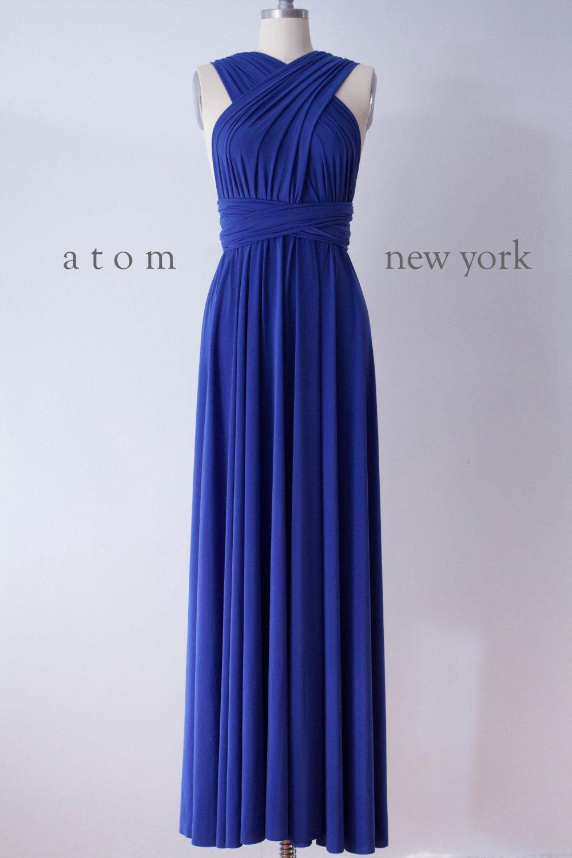 d53a67eae9501 Royal Blue Infinity Dress, Convertible Bridesmaid Dress, Evening Dress,Multiway  Dress, Wrap Dress, formal Dress
