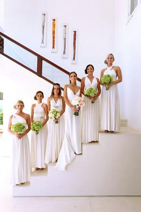 Ready-to-ship long wedding dress, Floor length white dress, ivory dress, long white infinity dress, wedding reception dress