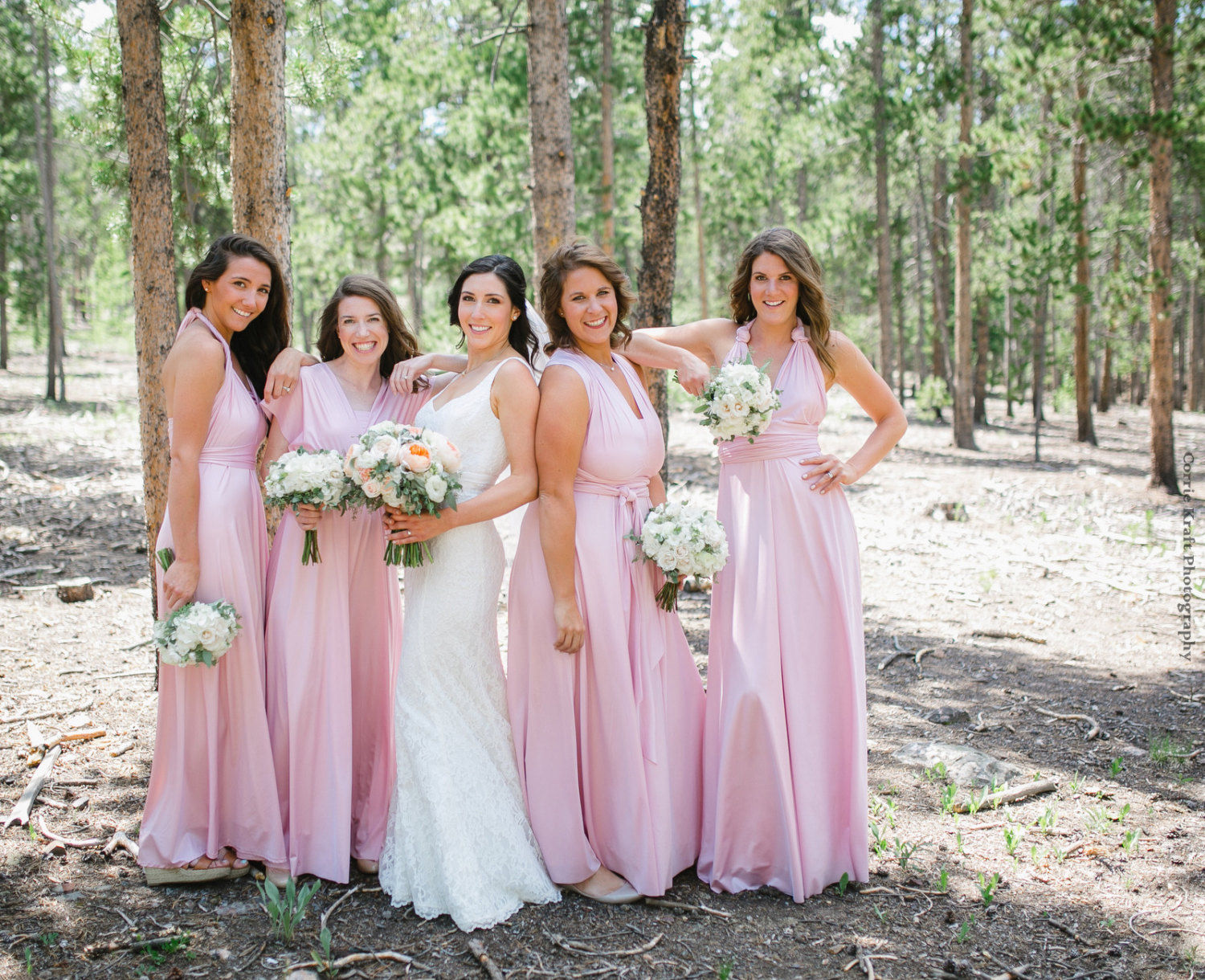Pink infinity dress, light pink dress, Floor length convertible dress, long bridesmaid dress, formal, bridal