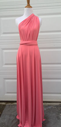 Blush infinity dress Long, blush bridesmaids dress, dusty rose bridesmaids dress, Long convertible dress, bridesmaids infinity dress, wrap dress