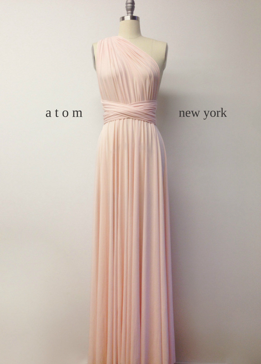 Pale Pink Bridesmaid Dress Wedding Dress Infinity Dress
