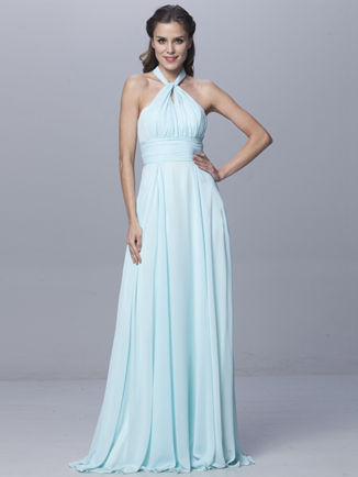Convertible Wrap light Blue Infinity Dress, Bridesmaid dresses tiffany blue, Floor Length blue convertible dress