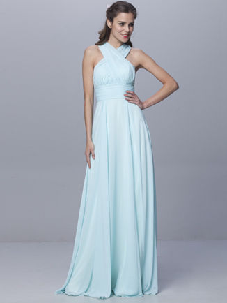 Infinity Dress Aqua Blue, Floor Length Convertible Dress, Multiway Wrap Dress, Bridal dress, Evening gown