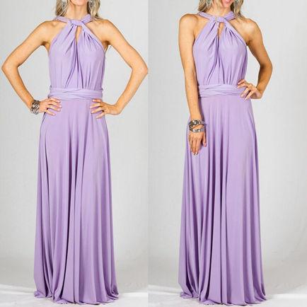 MAXI Lilac Bridesmaid Dress Convertible Dress Infinity Dress Multiway Dress Wrap Dress Light Purple Pastel Wedding Dress Long Full Length