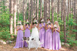 Lilac Bridesmaid Dress, Infinity Dress, Lilac Floor Length Wrap Convertible Dress, Wedding Dresses
