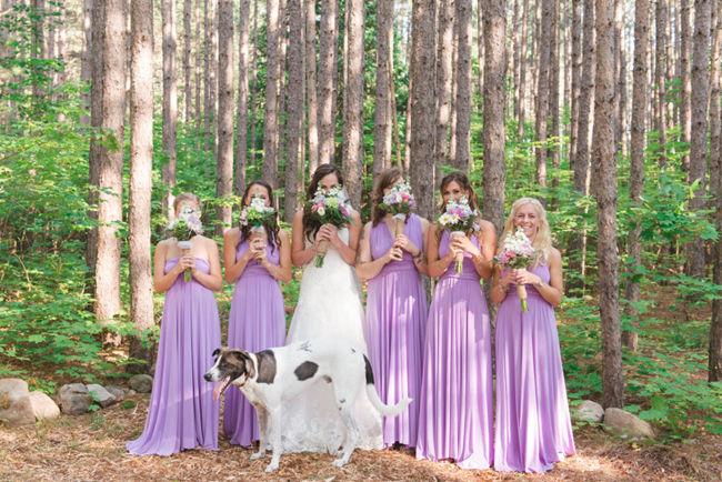 Lilac Bridesmaid Dress, Infinity Dress, Lilac Floor Length Wrap Convertible Dress, Wedding Dresses