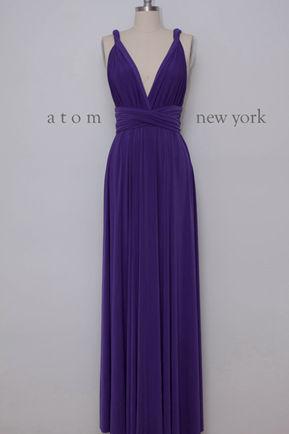 Infinity Dress,lilac bridesmaid dress, light purple Floor Length Wrap Convertible Dress, Wedding Dress