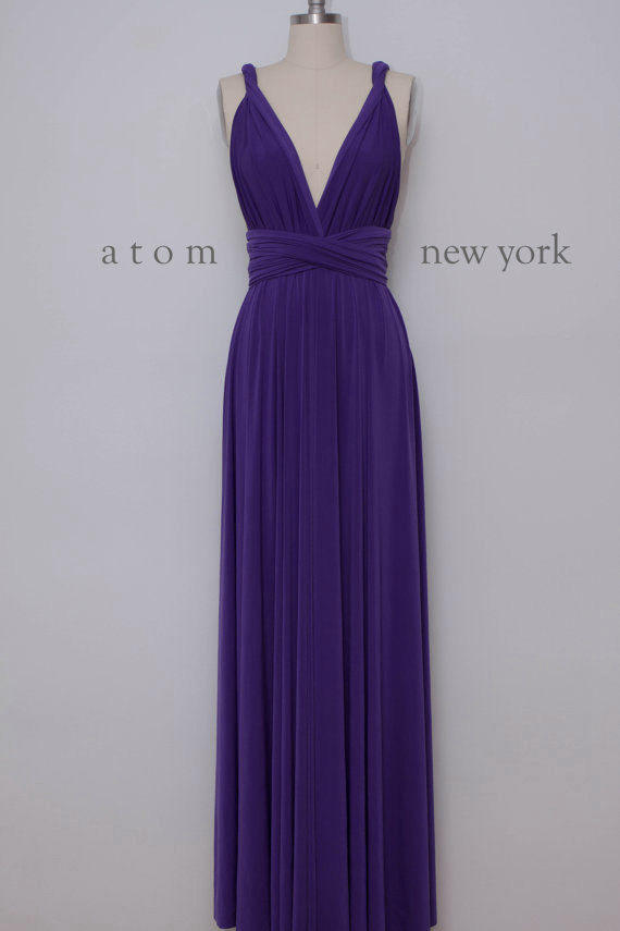 Dress,lilac bridesmaid dress, light purple Floor Length Wrap ...