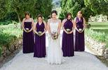 Bridesmaid dress purple, Purple Infinity Dress, Floor length Purple Dress, Violet purple dress
