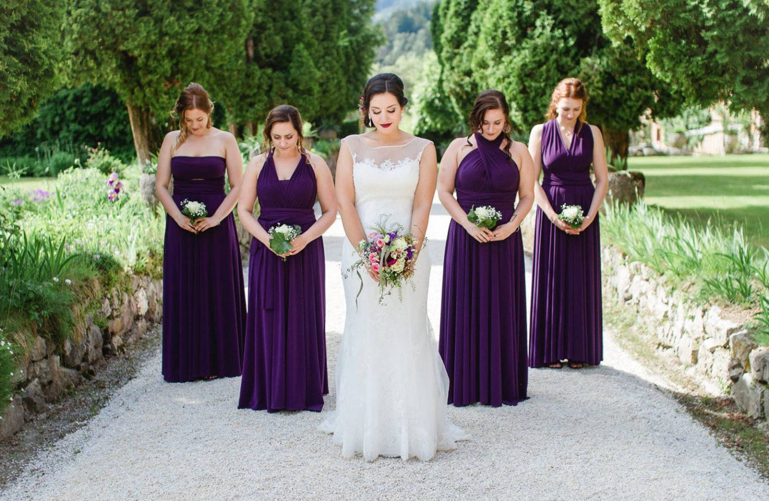Bridesmaid Dress Purple Infinity Floor Length Violet