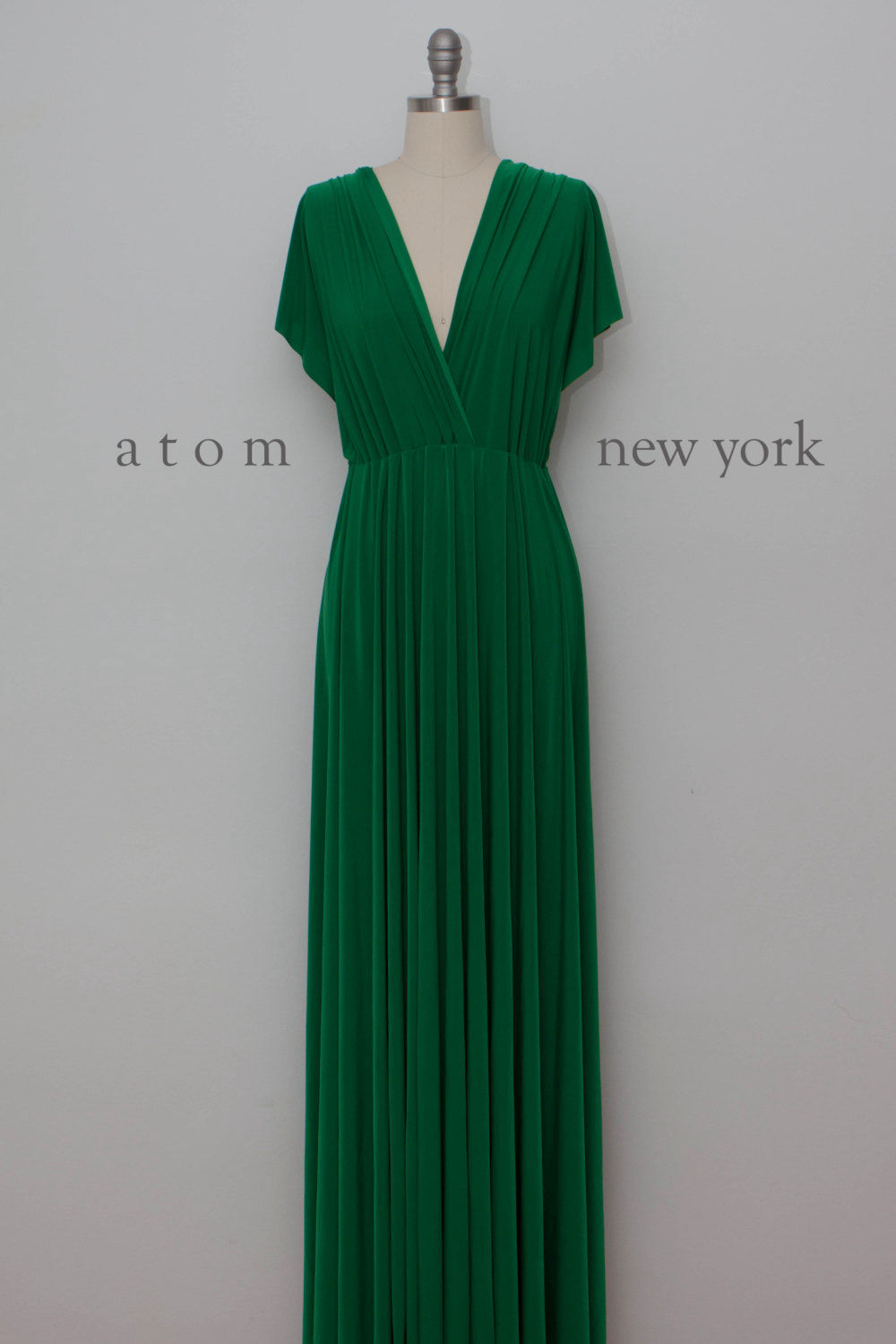 Green formal dress long, Convertible Dress Wrap Dress, green dress, Maid of Honor Dress Prom Dress