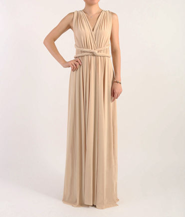Champagne bridesmaid dress, wedding dress evening dress, Party dress, formal dress, infinity dress, convertible dress, convertible dresses champagne