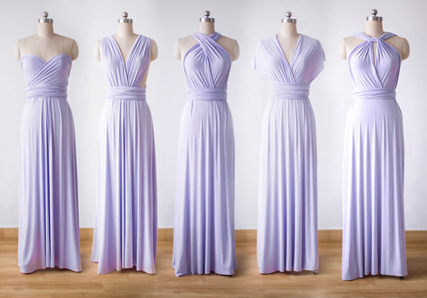 Violet Maxi Convertible Dress, Twist Wrap Dress Bridesmaid Violet, Purple Formal Evening Dress, Infinity Dress Long