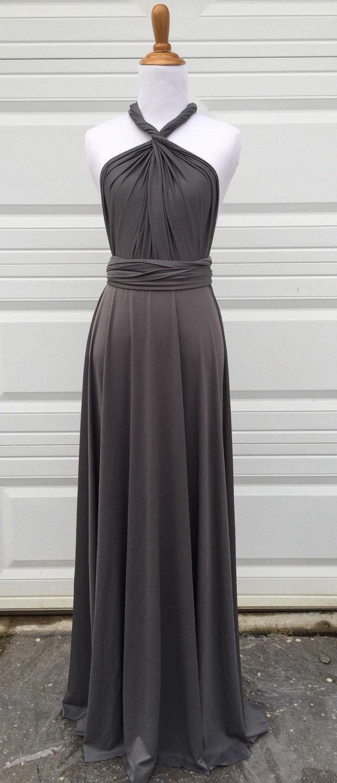 Bridesmades Dress Grey Infinity Dress Convertible Dress