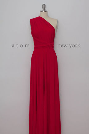FUCHSIA infinity dress, Free-Style convertible Dress in bright pink, Long Infinity Dress, rustic bridesmaid dresses