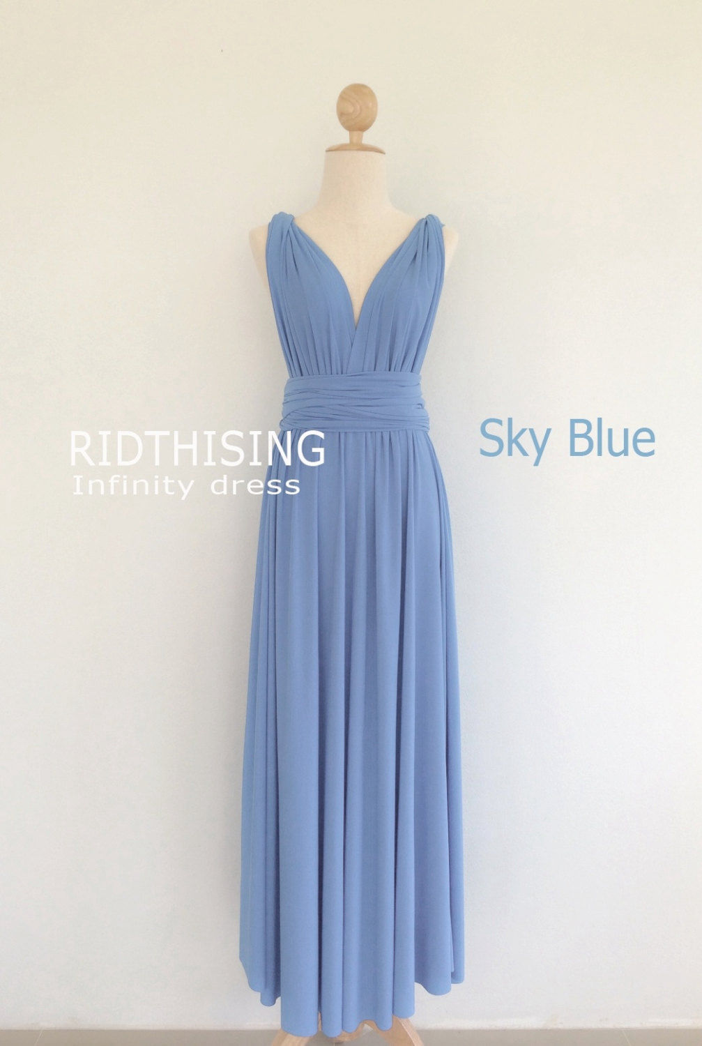 Sky Blue Infinity Dress Floor Length Bridesmaid Dress
