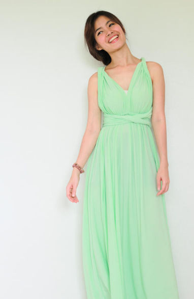 Length Mint Green Bridesmaid Dress, Infinity Wrap Dress Multi ...