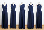 Dark blue Convertible Dress, Bridesmaid Dress, Infinity Dress Bridesmaid, blue Floor Length Wrap dresses