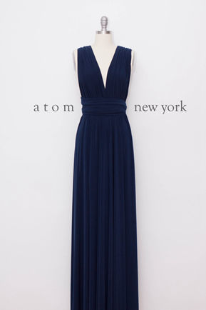 Dark Blue infinity dress, infinity dress, Long dark blue party dress, blue infinity dress, Long blue bridesmaid dress