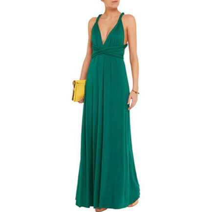 Floor Length Bridesmaid Dresses, Green Infinity Bridesmaid Dress, Wrap Bridesmaid dress, Bridesmaid dress long, Dress for women