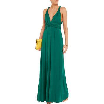 Floor Length Bridesmaid Dresses, Green Infinity Bridesmaid Dress, Wrap Bridesmaid dress, Bridesmaid dress long, Dress for women