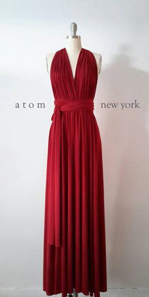 LONG Red Bridesmaid Dress, Wrap Convertible Dress, RED Infinity Dress , Prom dress, Evening dress, Party dress