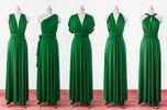 Forest Green Wrap Convertible Infinity Dress , Evening Dresses, Straight Hem Floor Length Green Bridesmaid Dress, Prom dress custom
