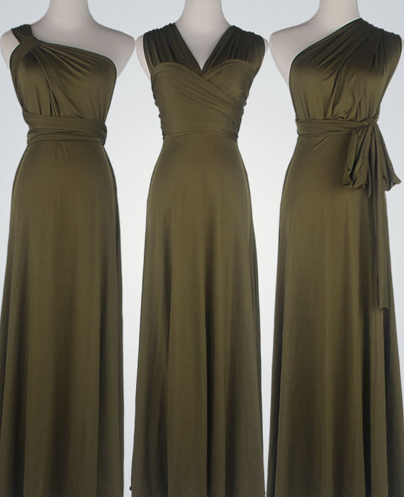 Olive Green Bridesmaid Dress Infinity Olive Green