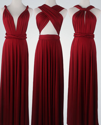 set of 4 bridesmaid gifts, bridesmaid dress, infinity bridesmaid dress, Floor Length convertible dresses