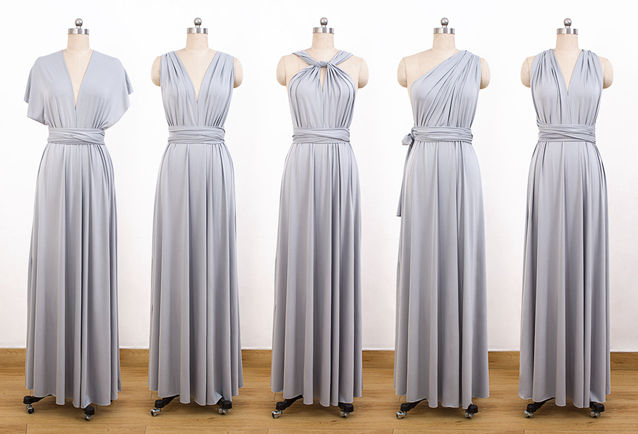 Set of 6 Cocktail Bridesmaid Convertible Dress, Dresses, Long Bridesmaid Dress, Convertible Dress, Infinity Wrap Dress