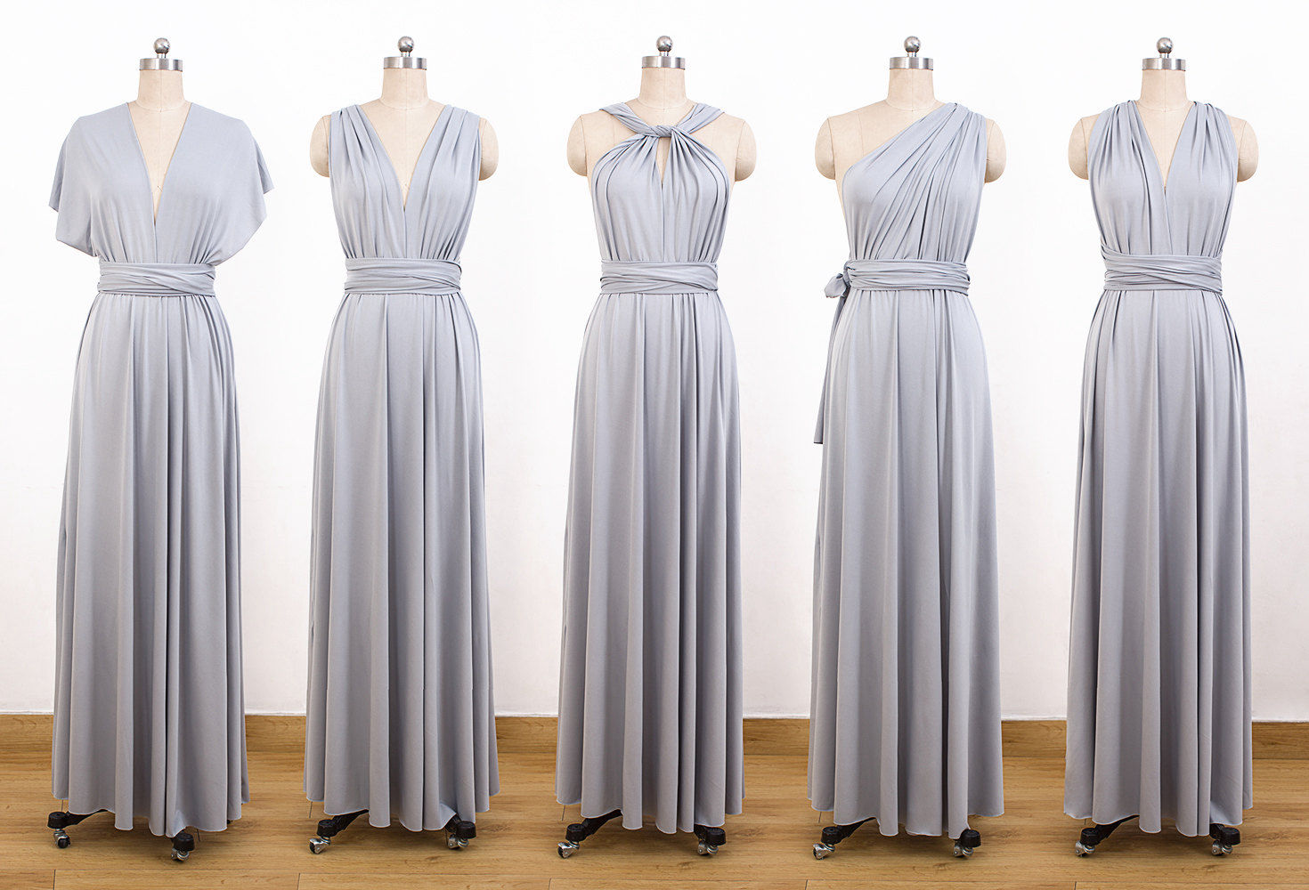 Set Of 6 Cocktail Bridesmaid Convertible Dress, Dresses