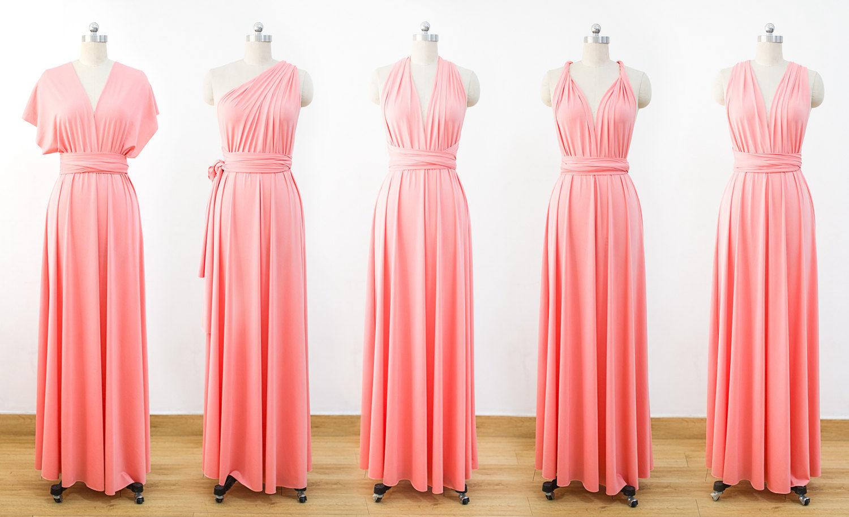 Set of 4 bridesmaid Dress, Long infinity bridesmaid dress, Formal ...
