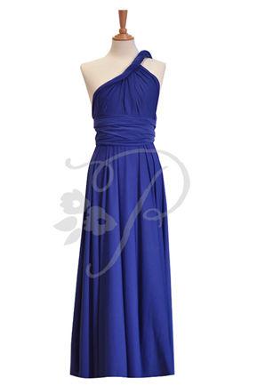 Set of 3 Infinity Dress Long, blue Bridesmaid Dresses, Long bridesmaid dress, Wedding Party dress