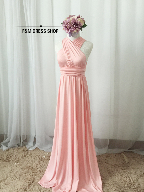 Set of 12 Bridesmaid Dress Infinity Dress, Custom handmade wedding ...