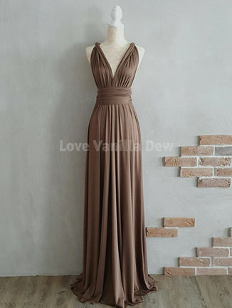 Champagne Convertible dresses, Infinity Dress Wrap, Champagne Long Bridesmaid Dress Formal Wedding