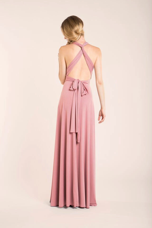 Set Of 4 Dusty Pink Bridesmaid Dress Dusty Rose Evening Dress