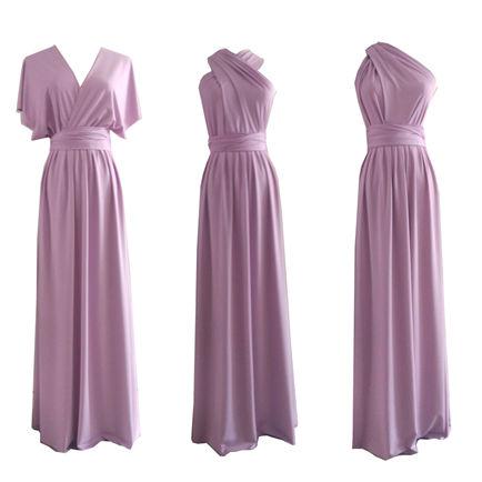 Infinity Dress, Multiway Dress, Twist Wrap Dress, Long Rustic Bridesmaid Dress, Wedding Prom Evening Light Purple