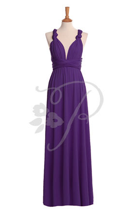 Violet bridesmaid dresses, Long bridal party dresses, Purple Bridesmaid Dress, Wedding Dress, Violet Infinity Dress