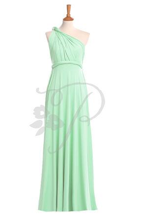 Set of 9 Mint Green Infinity Dress, Mint wrap dress, Floor Length Bridesmaid Party Dress