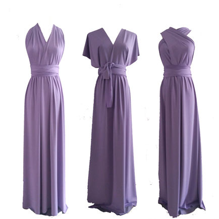 Infinity Dress Convertible, Lilac Convertible Dress, Bridal dresses, Floor Length Lilac Dress, Twist light lilac color