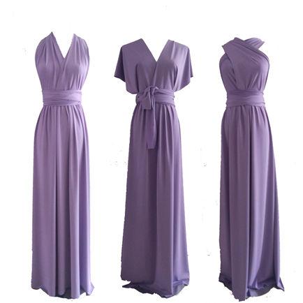 Infinity Dress Convertible, Lilac Convertible Dress, Bridal dresses, Floor Length Lilac Dress, Twist light lilac color