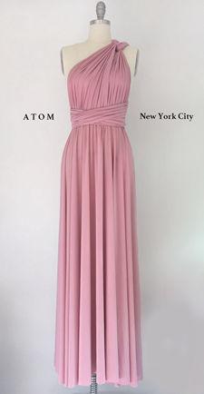 Convertible dress in DUSTY ROSE, Dusty Rose Bridesmaids Dress, Long infinity dress