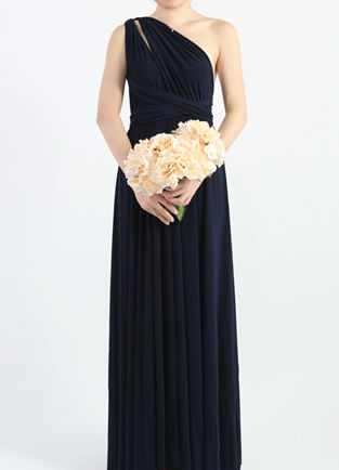 Midnight Blue Bridesmaid Dress, Infinity Floor Length Wrap Convertible Dress, Wedding Dress, Evening Dresses