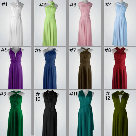 Set of 13 Infinity dress, Bridesmaid dress, Bridesmaid Party Dress ...