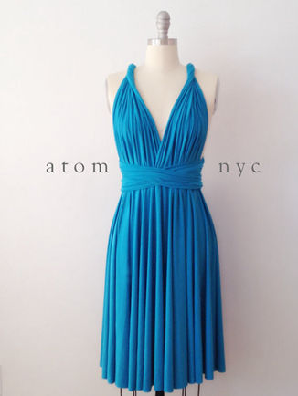 Infinity Dress red, Bridal Party Dress, teal short dress, Evening gown, Wrap Dress