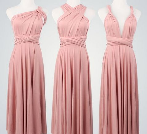 Pack of 10 Pink Infinity Dress, floor length wrap dress, pink bridesmaid dresses, Dress for Party